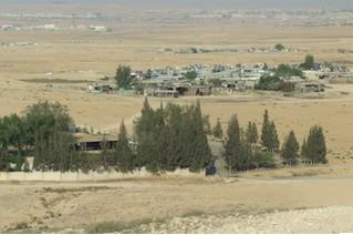 An unrecognized Bedouin village in the Negev (Photo: Ronit Sela)