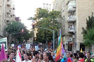 מצעד הגאווה בירושלים, 2005, צילום: CC-BY-SA Pato12seg